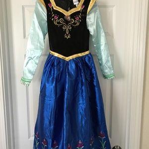 Disney Frozen Anna Costume Girls Size M + Shoes